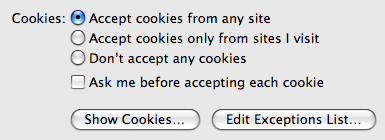 Camino's Cookie Preferences